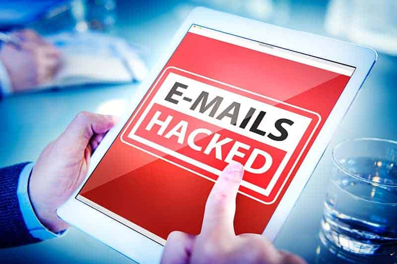 Email hacked breached